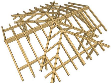 Copertura a padiglione in legno
