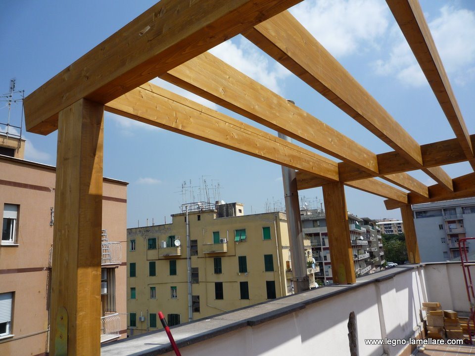 Casa moderna, roma italy: tetto in legno dwg